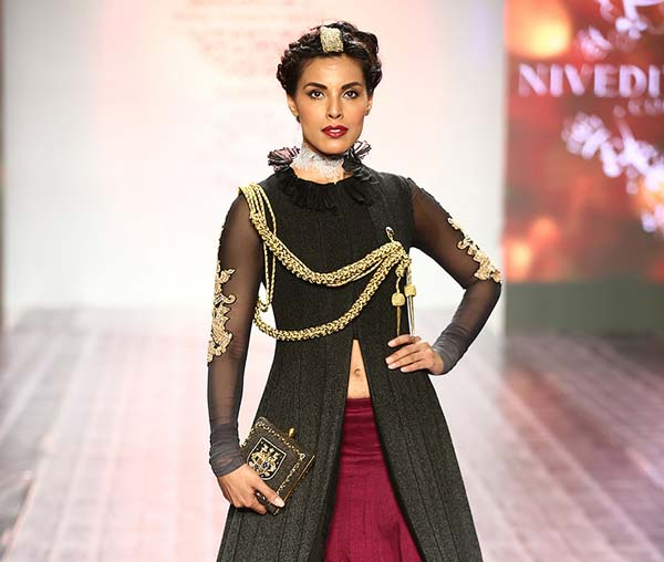 Nivedita's latest collection braves the Pantone 2015 colour - Marsala