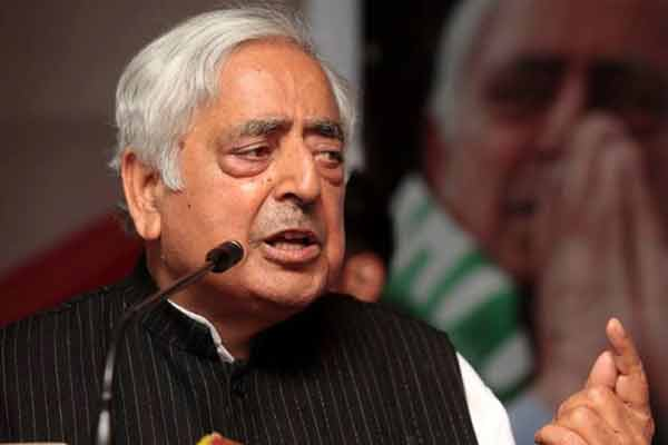 Mufti Sayeed  admitted to AIIMS following complaints of chest pain, fever