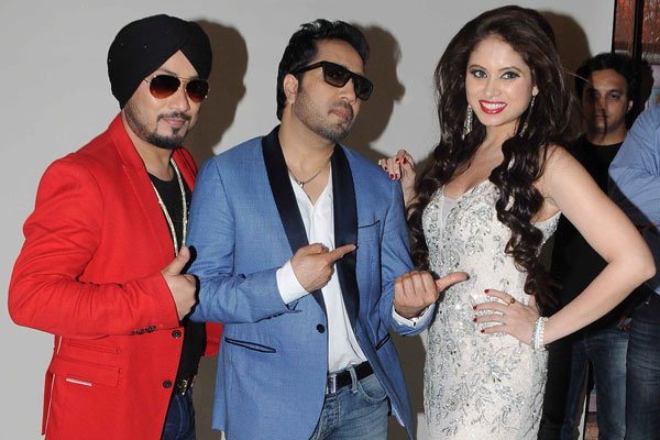 Photoshoot for Singer Dilbagh Singh's album 'BottomsUp' with Mika Singh & other actors