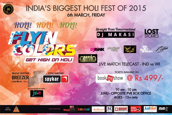 "Grove to the tunes of EDM & BDM this Holi with ""Flying Colors"""