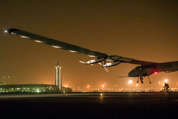 Solar Impulse 2: Solar powered aircraft lands in Ahmedabad