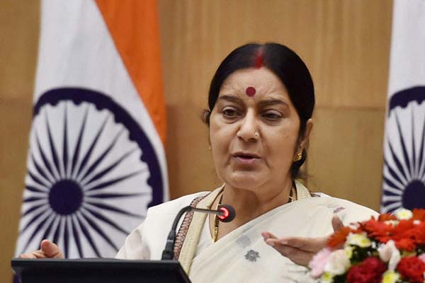 Swaraj appeals NRIs to come forward and contribute in 'Clean Ganga', 'Swachh Bharat'