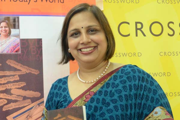 """Mrs Sharma, Country head of Lafarge and author of """"Reality Bytes"""" in conversation with NRInews24x7"""