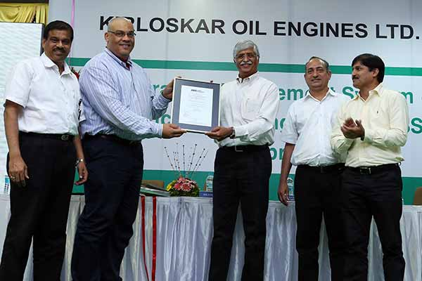 Kirloskar Oil Engines Ltd honored with IMS Certification
