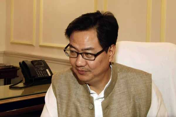 Union Min Kiren Rijiju's advised to Delhi Lt Gov and CM to work as per constitution