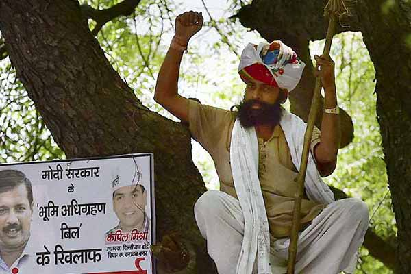 Farmer's death: Delhi Police blames AAP for delaying post-mortem