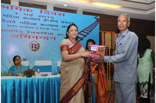 Lower rung of railway employees felicitated for their unique contribution