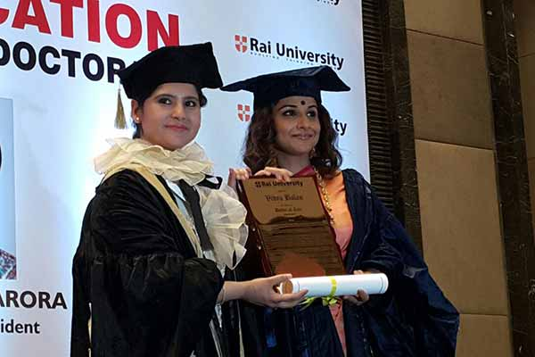 Vidya Balan honored with honorary Doctorate