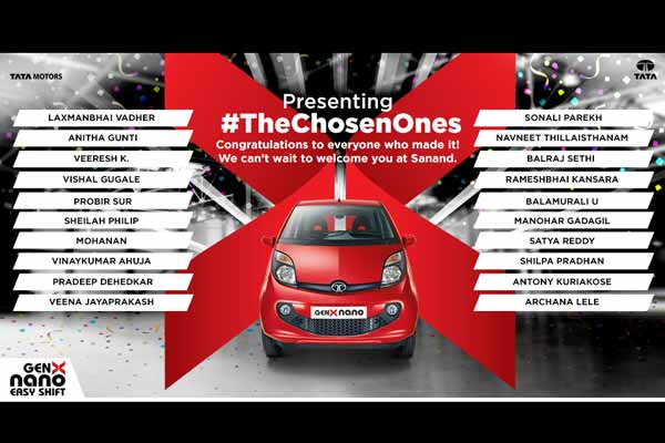 Tata Motors announces top 20 lucky winners of 'The Chosen Ones' campaign