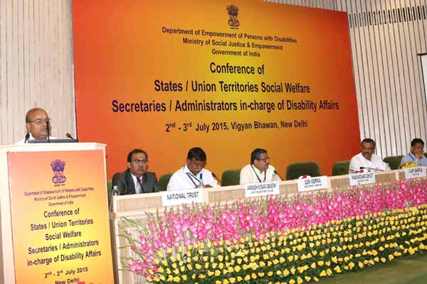 Conference of State Social Welfare Secretaries/Administrators of UTs Dealing with Disability Affairs Held