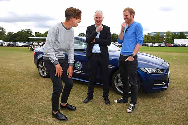 Wimbledon Icon John McEnroe sets pulses racing for tennis fans as Jaguar's Secret Chauffeur
