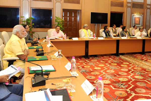 PM chairs meeting with CMs from North-Eastern States
