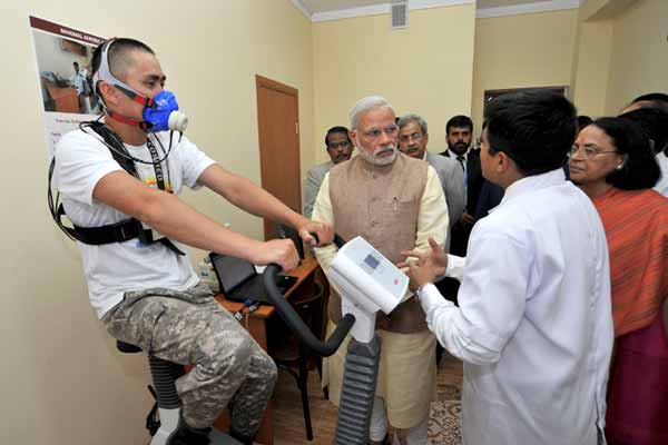 PM visits Kyrgyz-India Mountain Biomedical Research Centre; inaugurates first telemedicine link between India and Central Asia