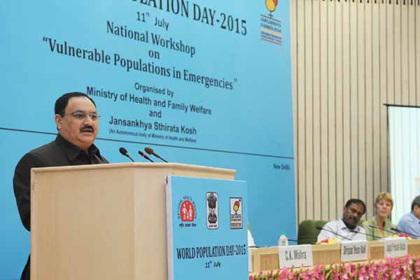 J P Nadda releases National Health Profile-2015