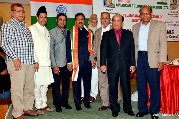 Warm reception for Mohammed Ali Shabbir by ATA ,Telangana Association NA and Minorities