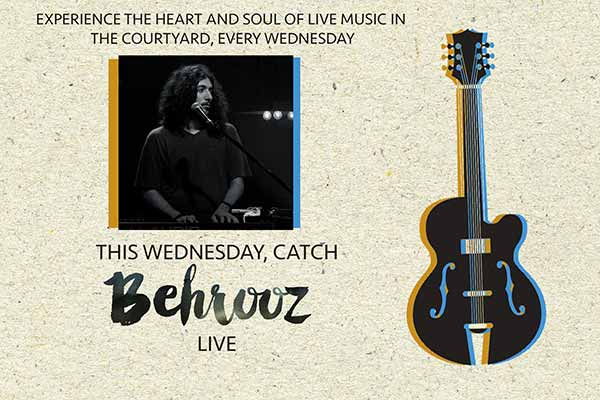 Behrooz Live in the Courtyard @ Olive Bistro