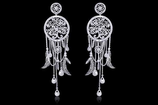 The enchanting dream catcher crafted in eternal platinum by ORRA