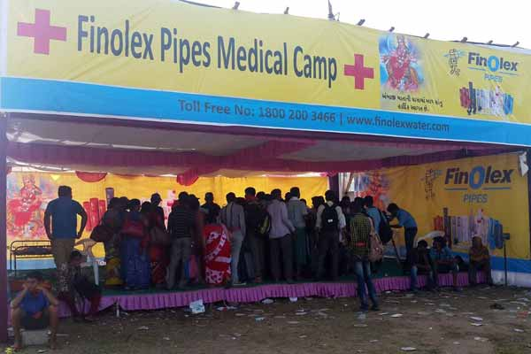 Finolex Industries Limited set up Medical Camps along the Ambaji Padyatra routes to provide First Aid