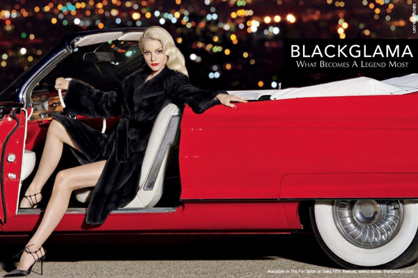 Jessica Stam embodies modern Hollywood glam in Blackglama's 2015 campaign