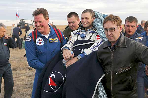 Russian cosmonaut Gennady Padalka back after record 879 days in space