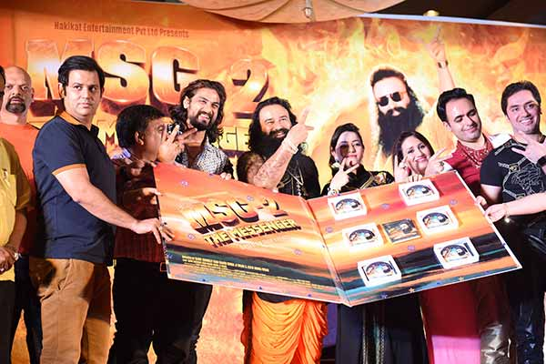 Ajay Kapoor of T-Series at the audio launch of the film MSG- The Messenger of God 2