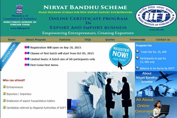 "DGFT launches ""Niryat Bandhu@Your Desktop"" an online certificate programme in Export Import Business"