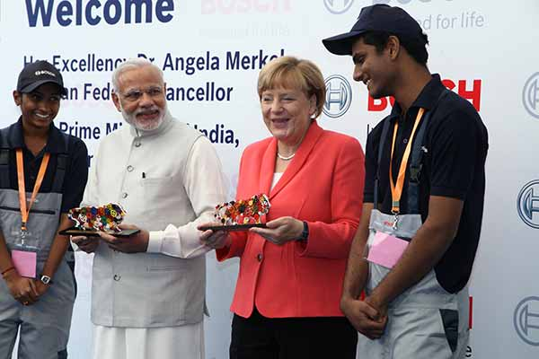 Bosch: Prime Minister Modi and Chancellor Merkel visit facilities in Bangalore