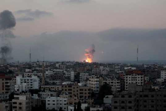 Israeli aircraft targets Hamas sites in Gaza after rocket fire