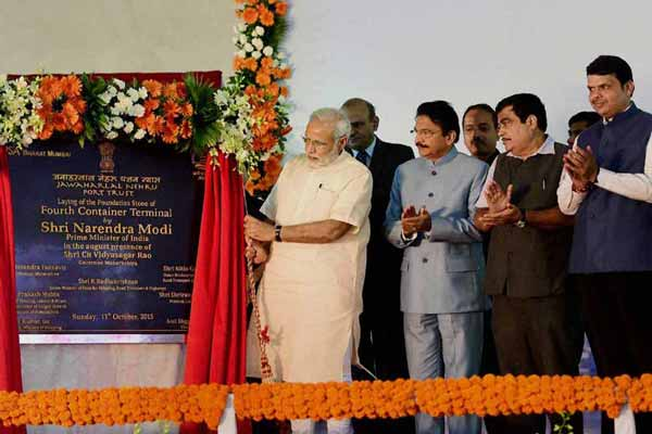 PM Modi lays foundation stone of JNPT's Rs 7,900 cr 4th terminal