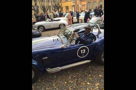 Don Jazzy takes classic 1965 Shelby Cobra original for a spin