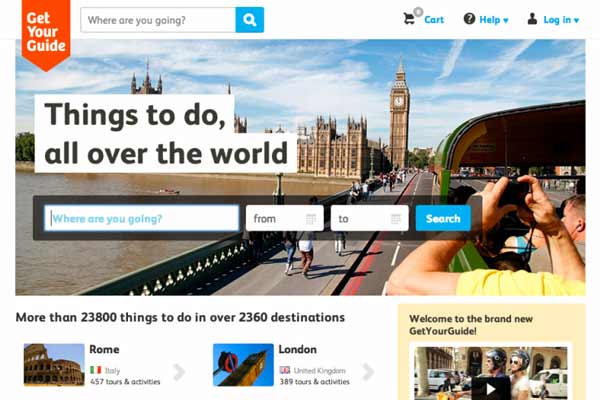 GetYourGuide gets $50M to grow its travel activities booking platform