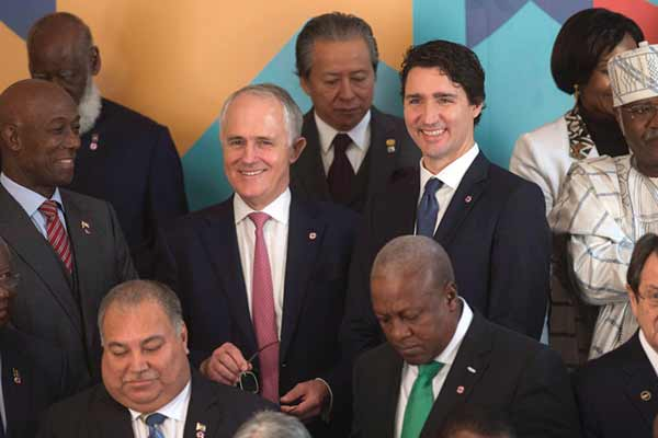 Ahead of climate conference; Commonwealth nations pledge billions to fight global warming