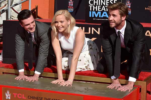 The Hunger Games: Jennifer Lawrence joins stars in handprint ceremony