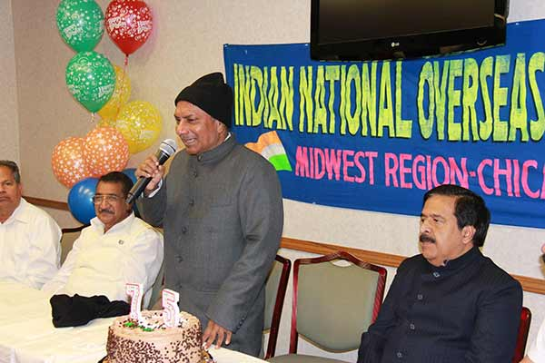 Former Defence Minister A.K. Antony celebrates his 75th Birthday in Chicago