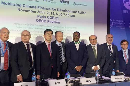 Development banks vow to mobilise collective resources to confront climate change