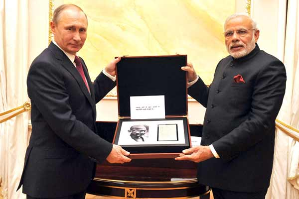 President Putin's gifts to PM