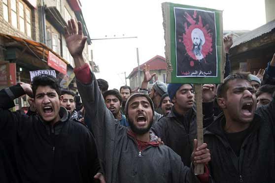 Execution of Shia cleric: Shia community in Srinagar protests