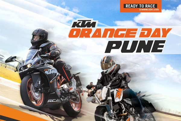 KTM to organize Orange Day in Pune on 27th February, 2016