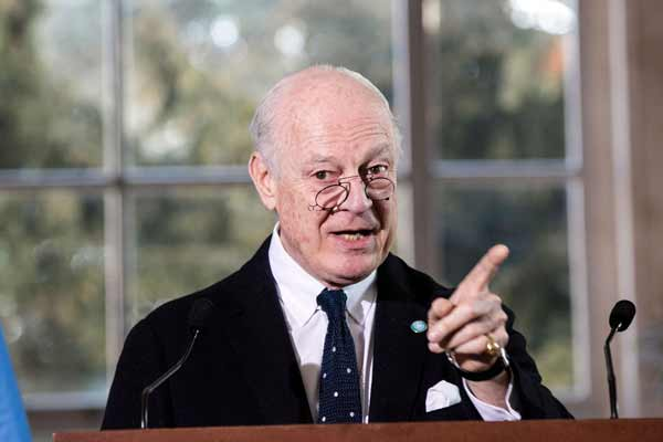 Intra-Syrian talks advancing without 'excessive rhetoric,' says UN envoy