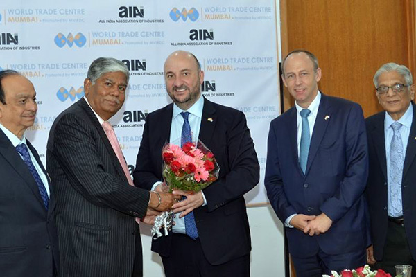 Europe's leading financial centre to strengthen ties with financial capital of India says H.E. Mr. Schneider