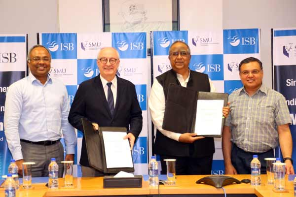 ISB and SMU to collaborate in the areas of Innovation, Entrepreneurship and Research