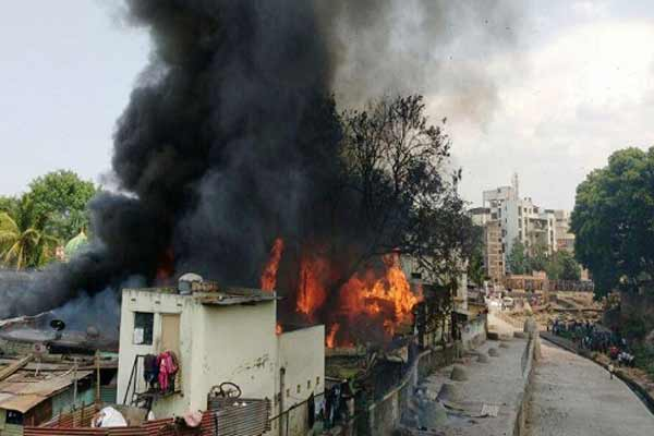Fire in Pune's Bhimnagar slums area