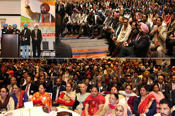 Captain Amarinder Singh, PPCC President and Deputy leader of Loksabha addresses Punjab Community in New York