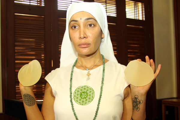 Hollywood model actress Sofia Hayat reveals why she turned into a nun, displays silicon implants removed from breasts