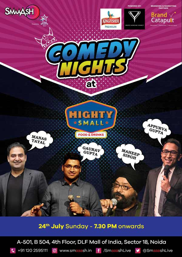 Comedy Nights at Mighty Small Cafe and Bar, SMAAASH Noida
