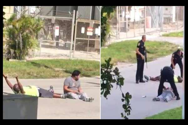 Unarmed black man trying to help autism patient shot by Florida Police