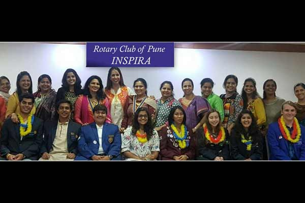 Rotary Club of Pune Inspira organised special function welcoming Inbound Students coming from different countries