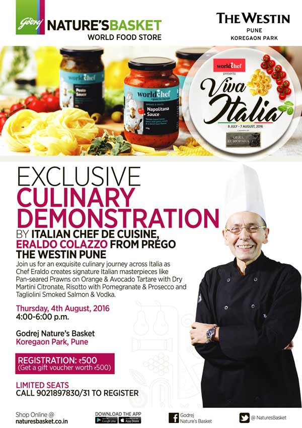 Godrej Nature's Basket - Italian workshop on the 4th August 2016