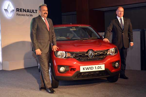 Renault launches Kwid with new powerful 1.0L smart control efficiency (SCe) engine