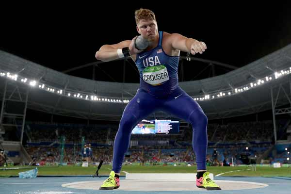 Rio 2016: Crouser sets Olympic record to win shot put gold